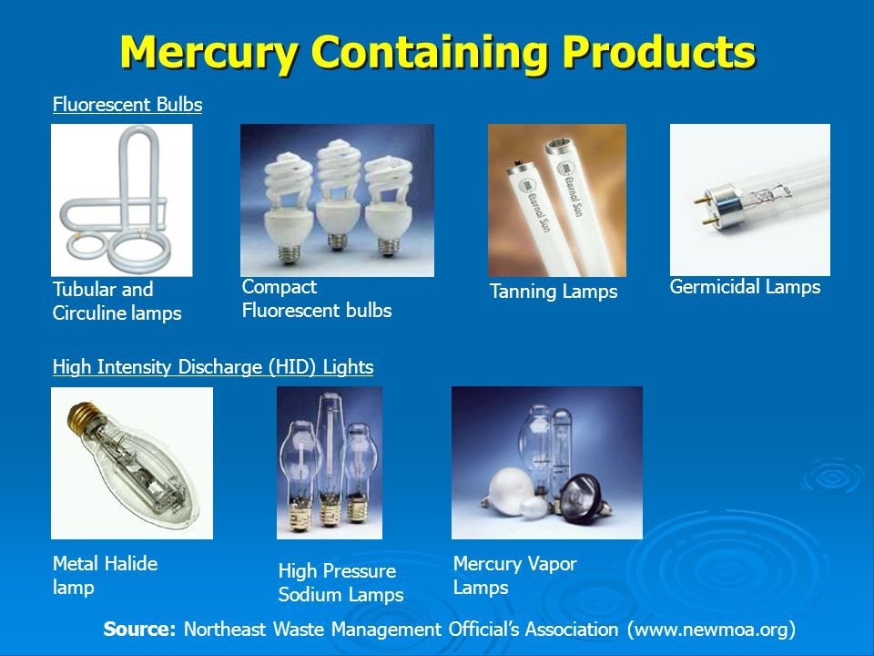 Mercury Containing Products