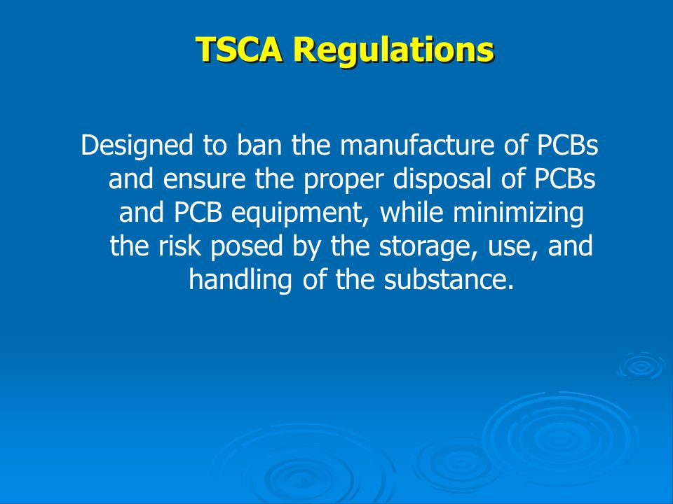 TSCA Regulations