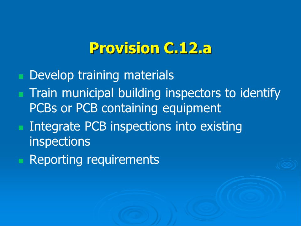 Provision C.12.a Develop training materials