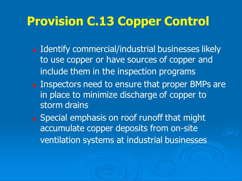 Provision C.13 Copper Control