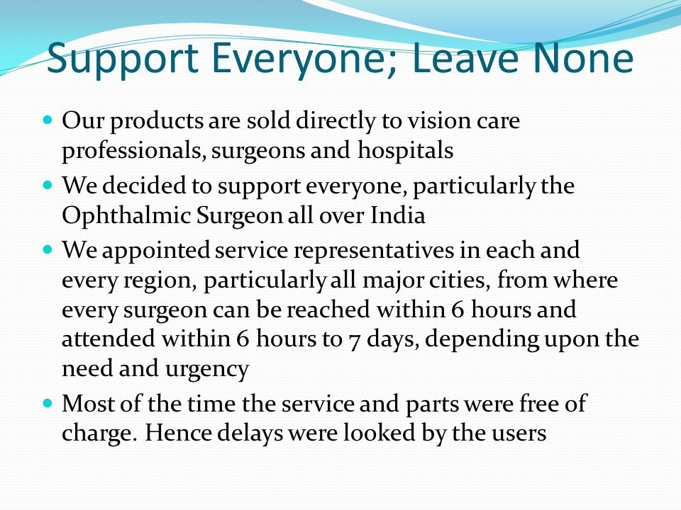 Support Everyone; Leave None