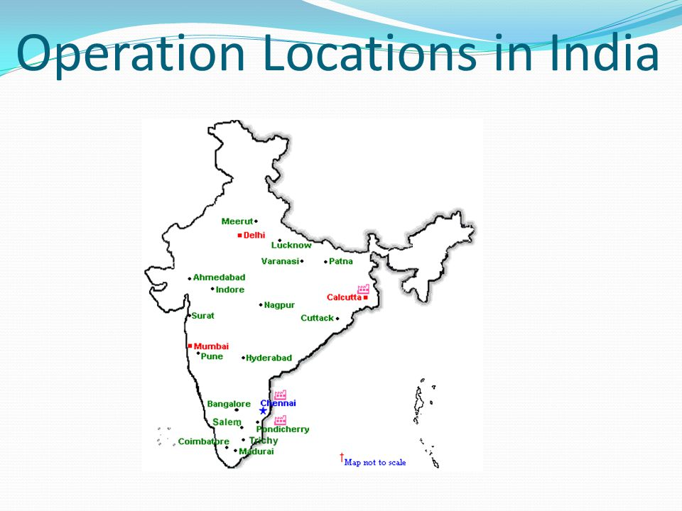 Operation Locations in India