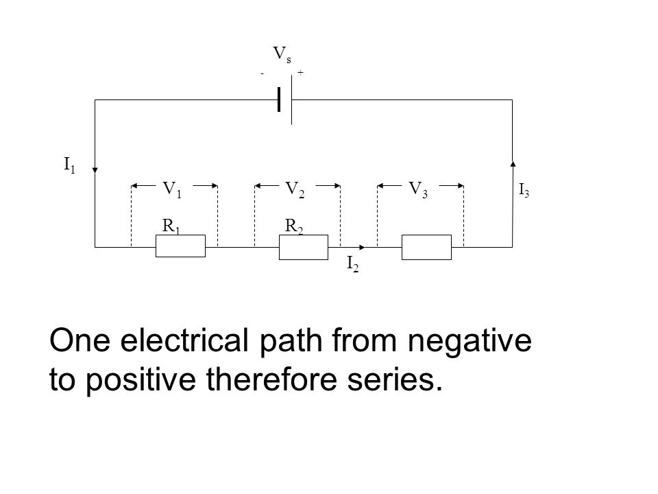 One electrical path from negative to positive therefore series.
