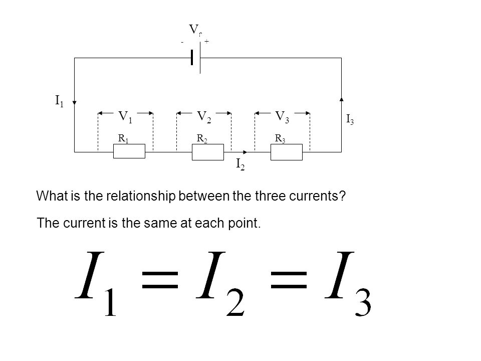 What is the relationship between the three currents