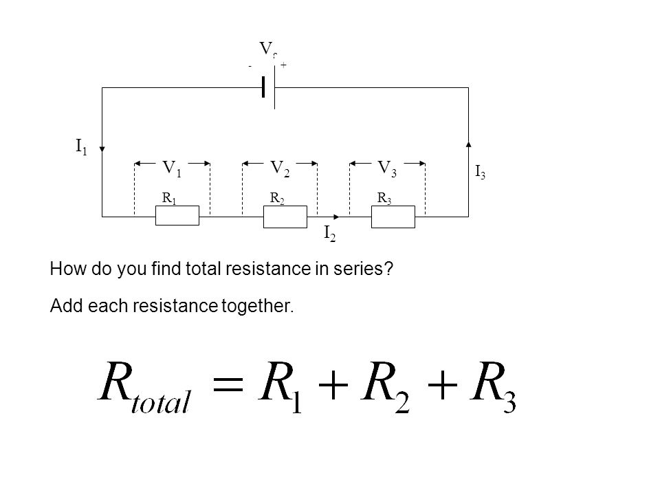 How do you find total resistance in series