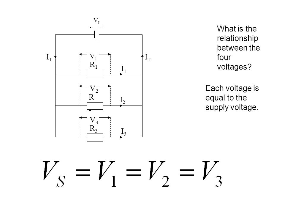 What is the relationship between the four voltages