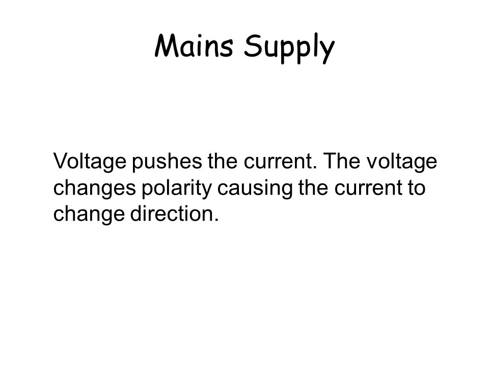 Mains Supply Why does the current change direction