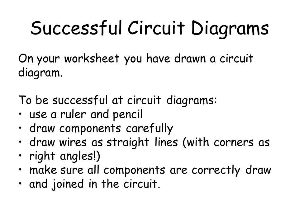 Successful Circuit Diagrams