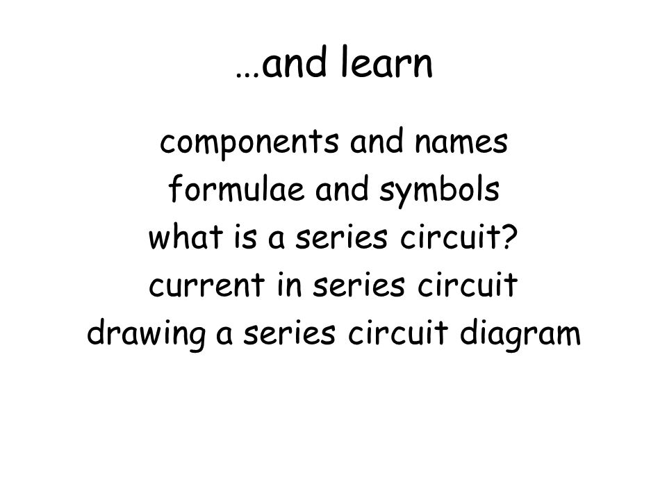 …and learn components and names formulae and symbols