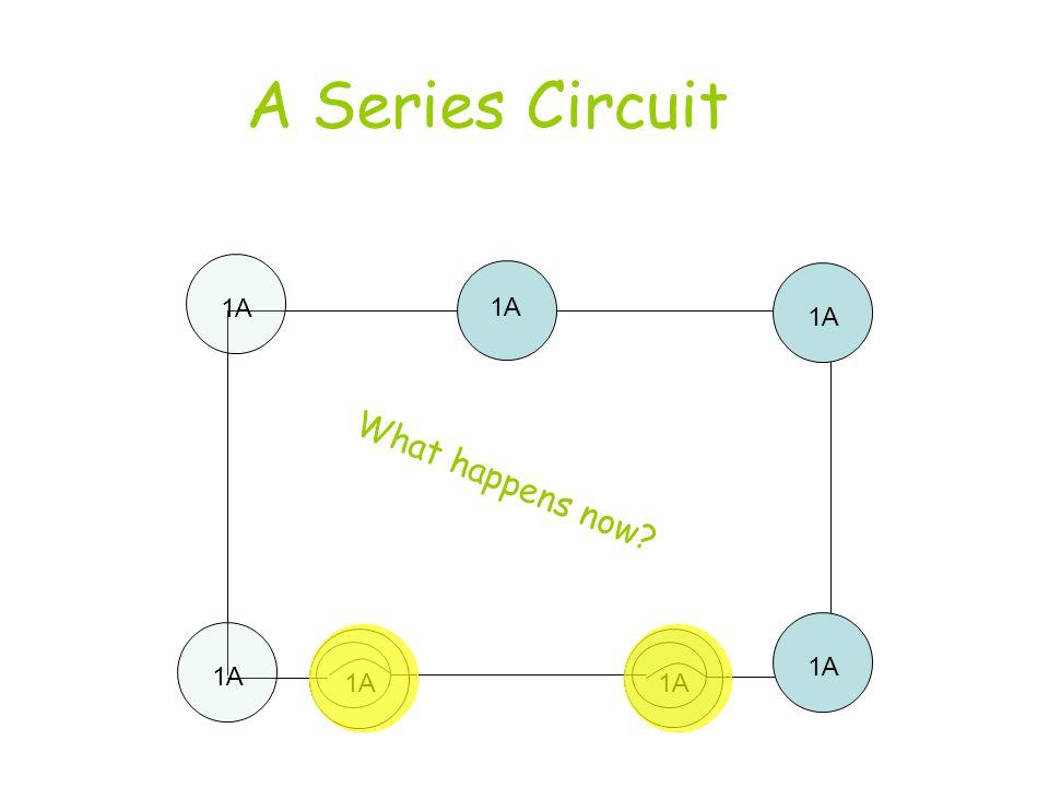 A Series Circuit 1A 1A 1A What happens now 1A 1A 1A 1A