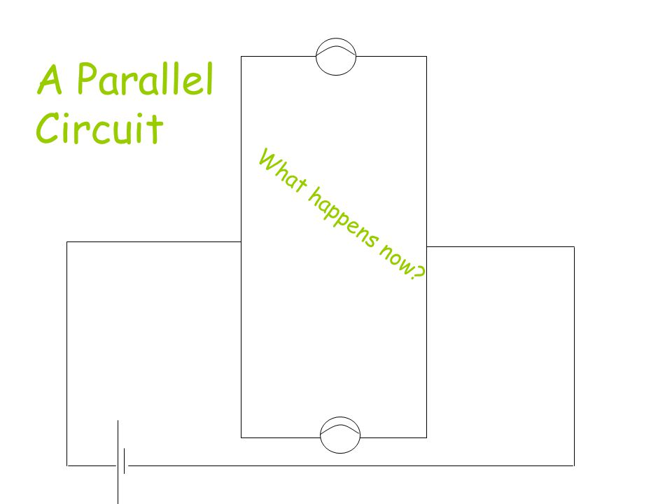A Parallel Circuit What happens now
