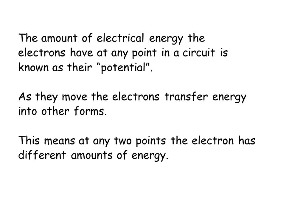 The amount of electrical energy the