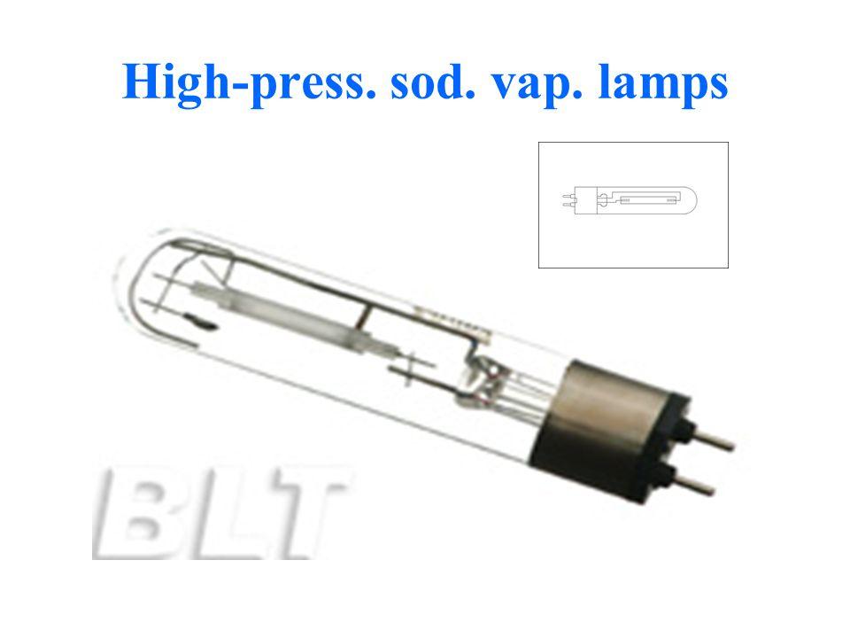 High-press. sod. vap. lamps