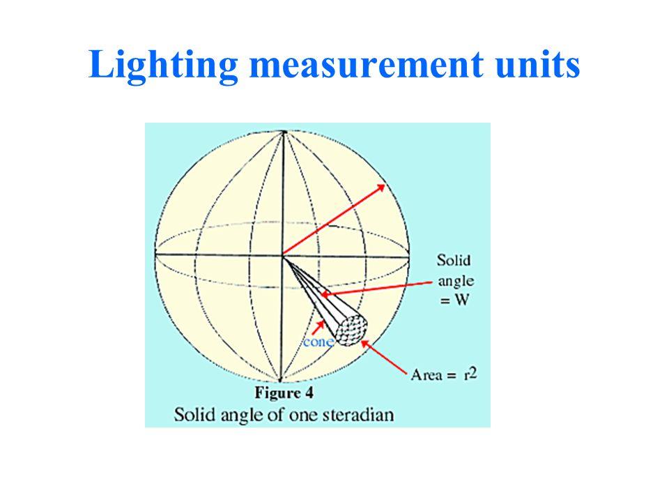 Lighting measurement units