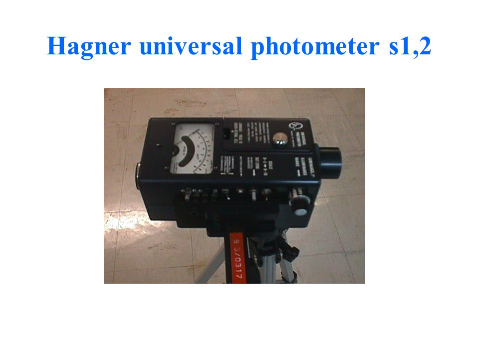 Hagner universal photometer s1,2