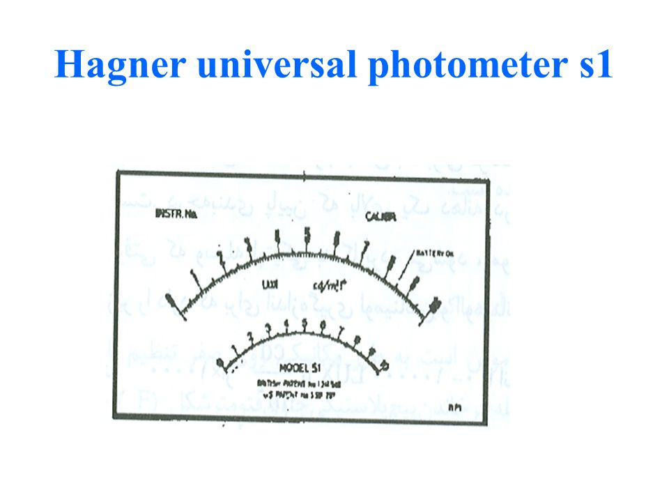 Hagner universal photometer s1