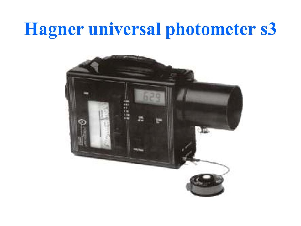 Hagner universal photometer s3