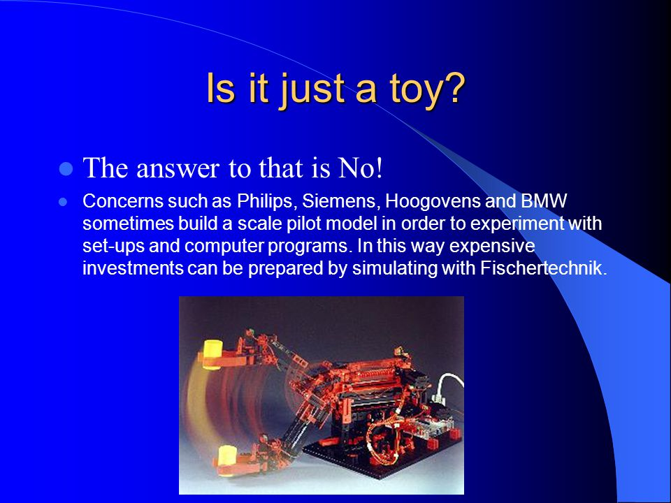 Is it just a toy The answer to that is No!