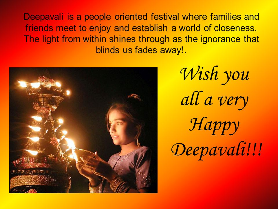 Wish you all a very Happy Deepavali!!!