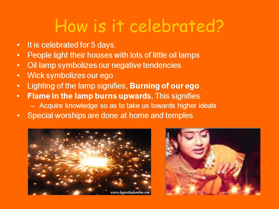 How is it celebrated It is celebrated for 5 days.