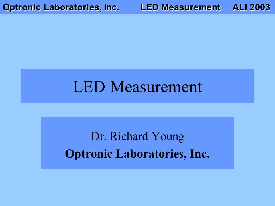 Dr. Richard Young Optronic Laboratories, Inc.