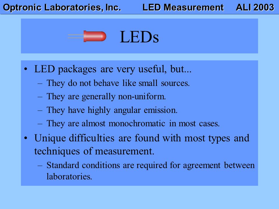 LEDs LED packages are very useful, but...