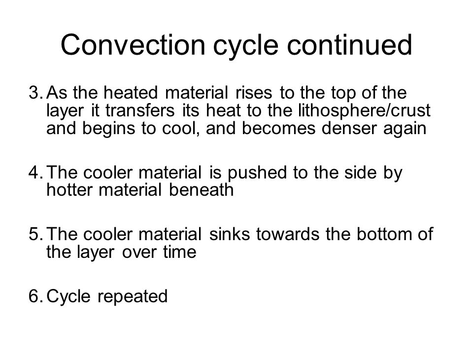 Convection cycle continued