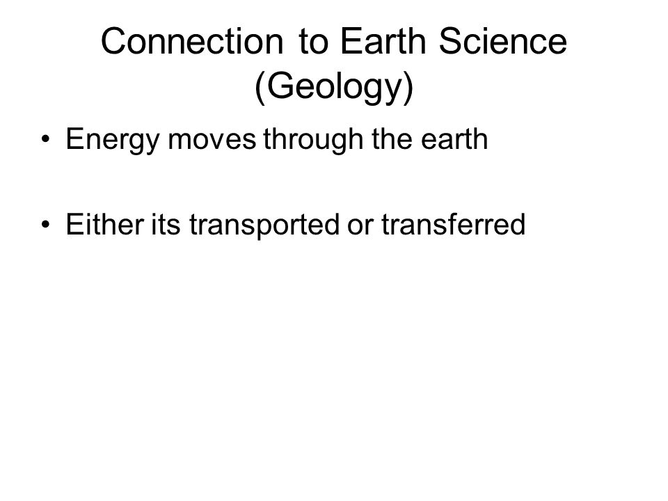 Connection to Earth Science (Geology)