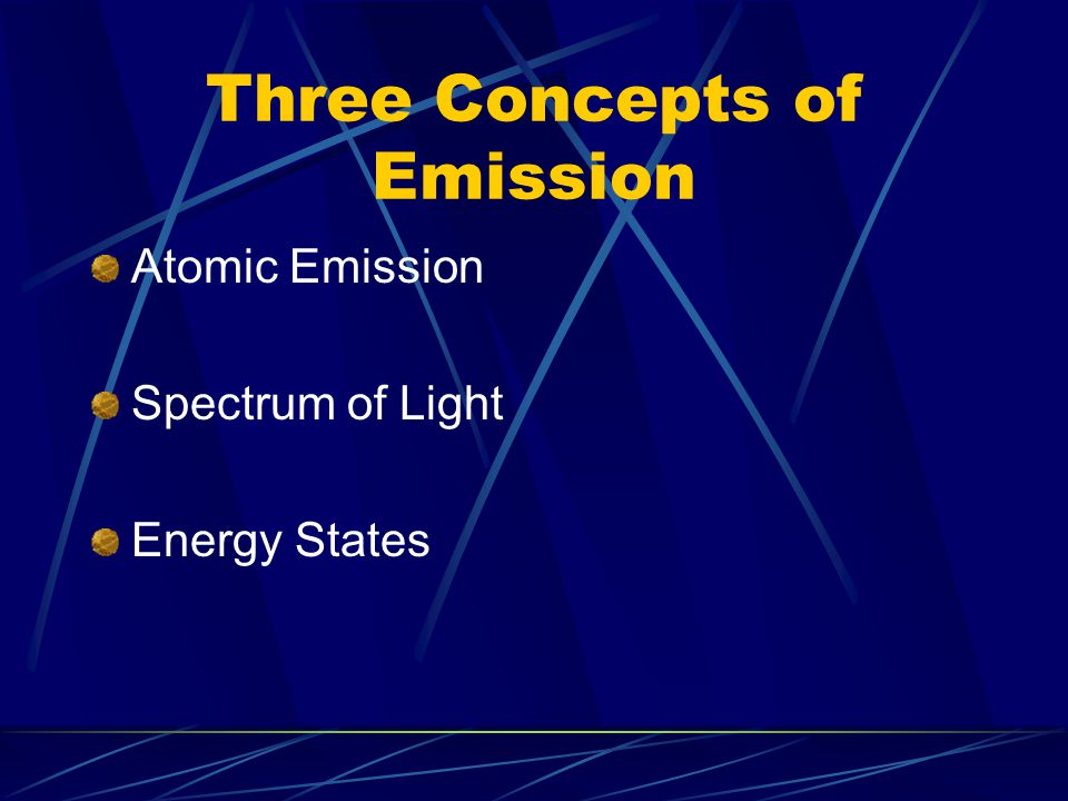 Three Concepts of Emission