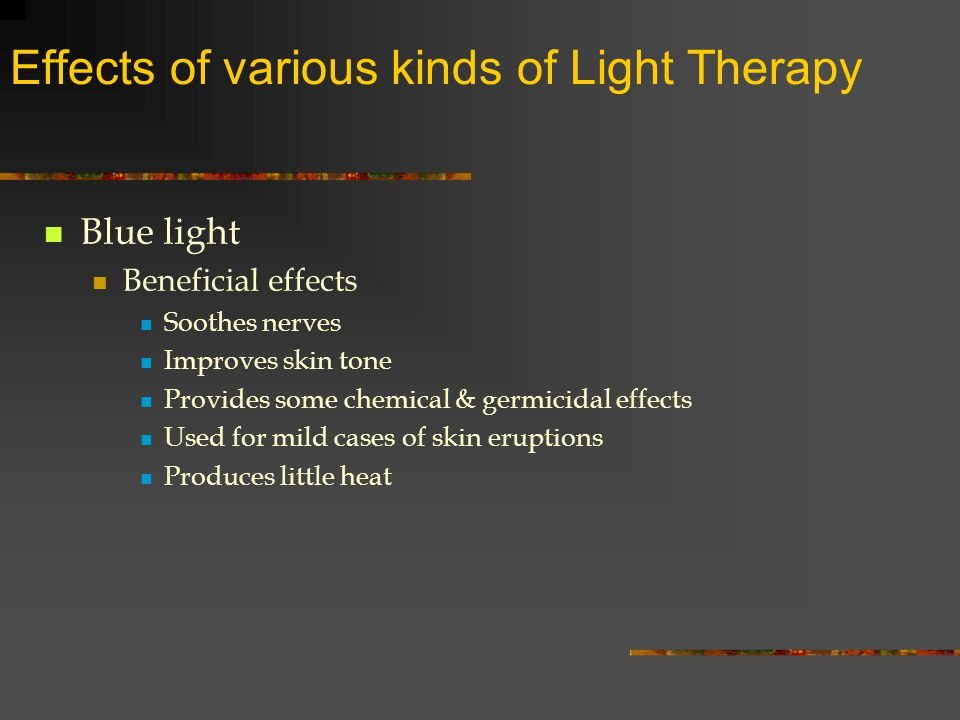 Application Of Light Rays To The Skin For The Treatment Of