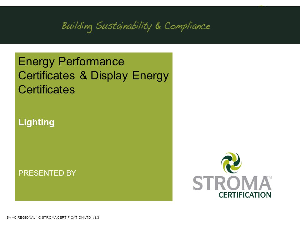 Energy Performance Certificates & Display Energy Certificates