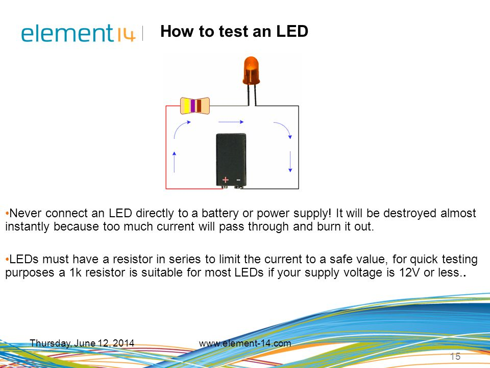 How to test an LED