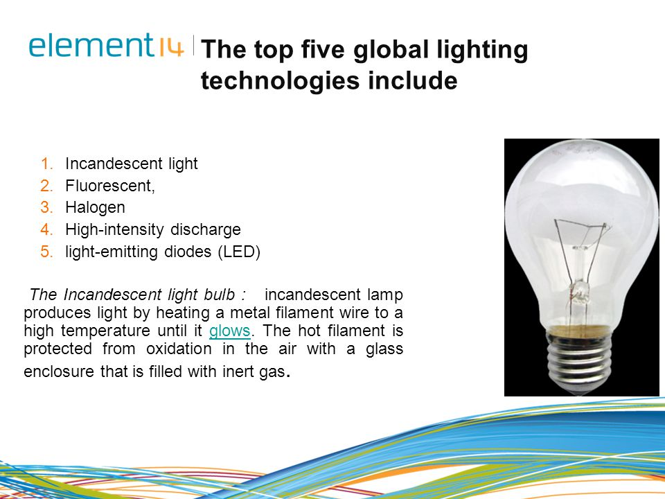 The top five global lighting technologies include