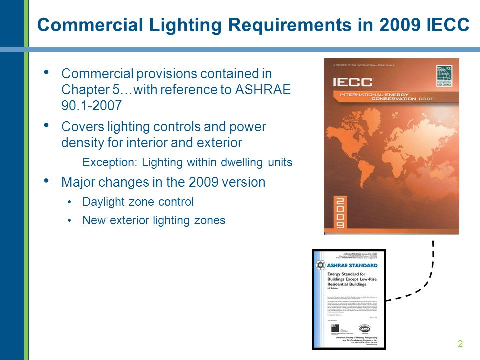Commercial Lighting Requirements in 2009 IECC
