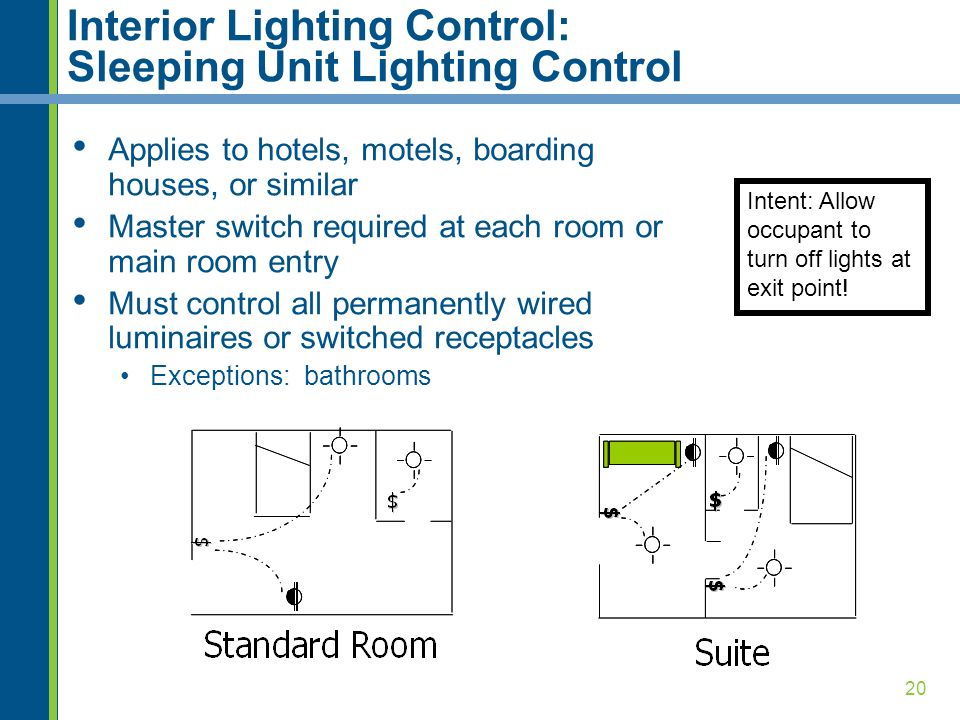 Interior Lighting Control: Sleeping Unit Lighting Control