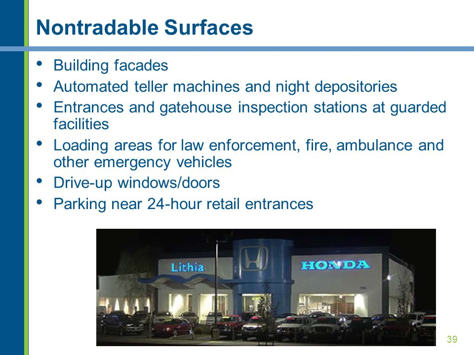 Nontradable Surfaces Building facades