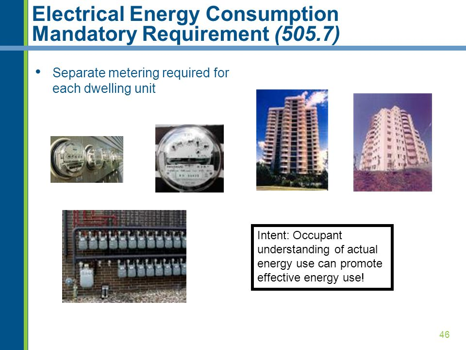 Electrical Energy Consumption Mandatory Requirement (505.7)