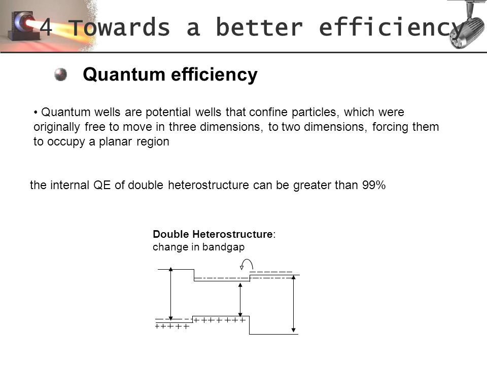 4 Towards a better efficiency