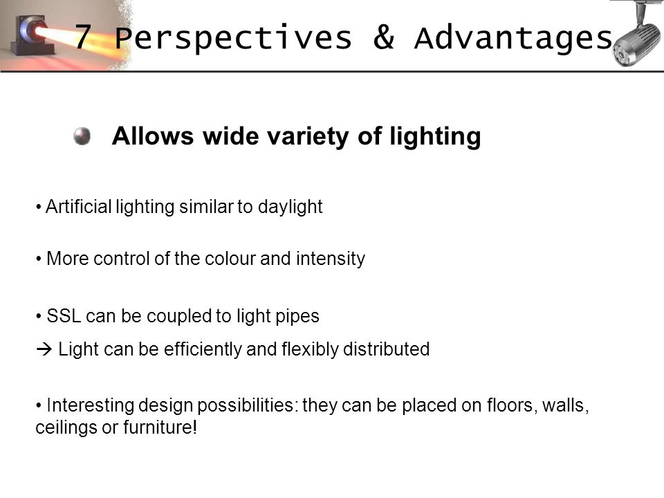 7 Perspectives & Advantages