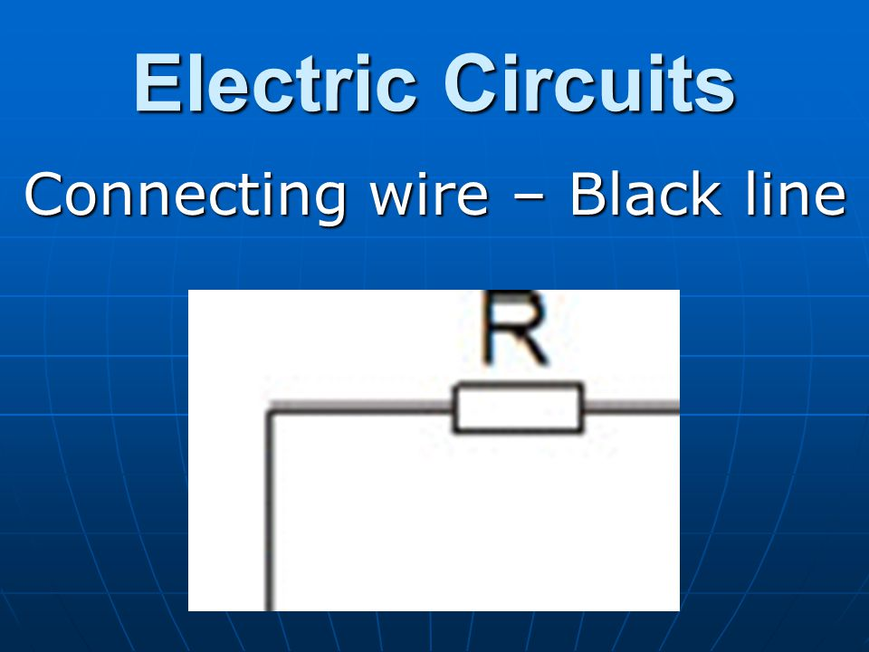 Connecting wire – Black line
