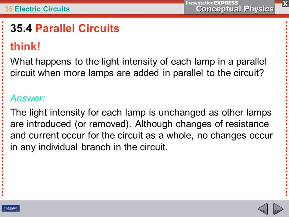 35.4 Parallel Circuits think!