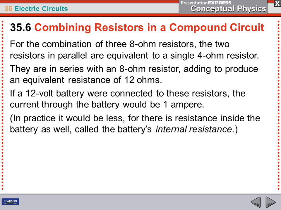 35.6 Combining Resistors in a Compound Circuit