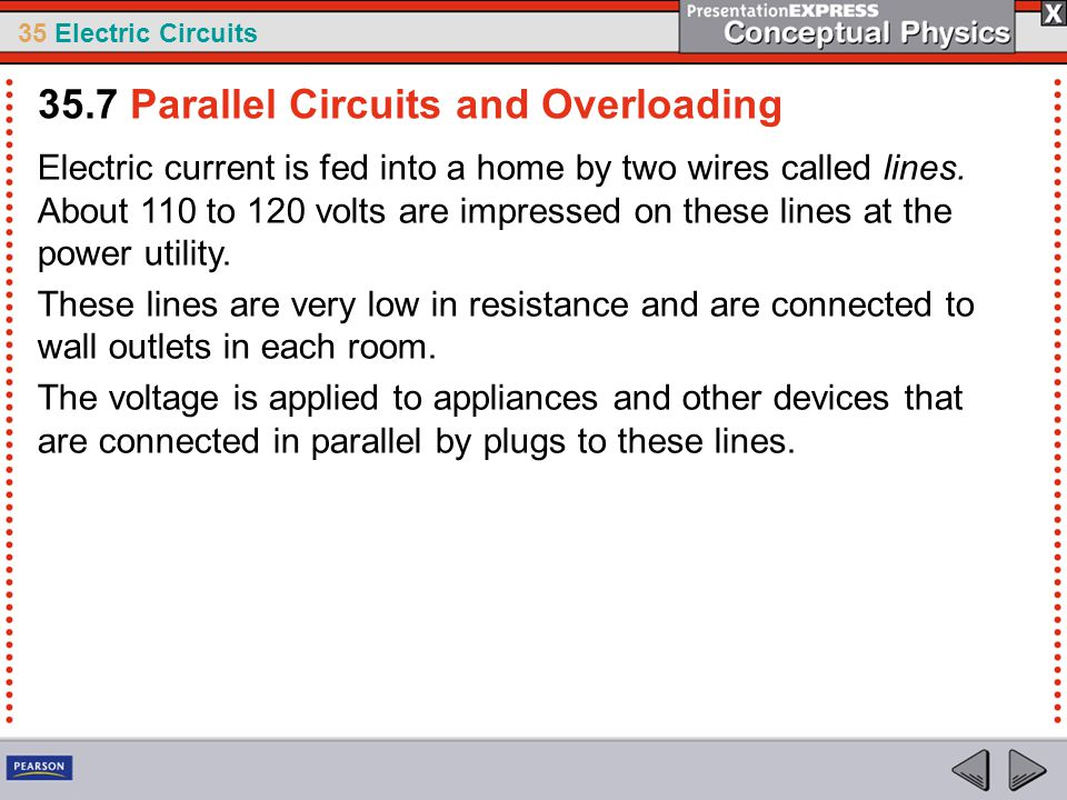 35.7 Parallel Circuits and Overloading