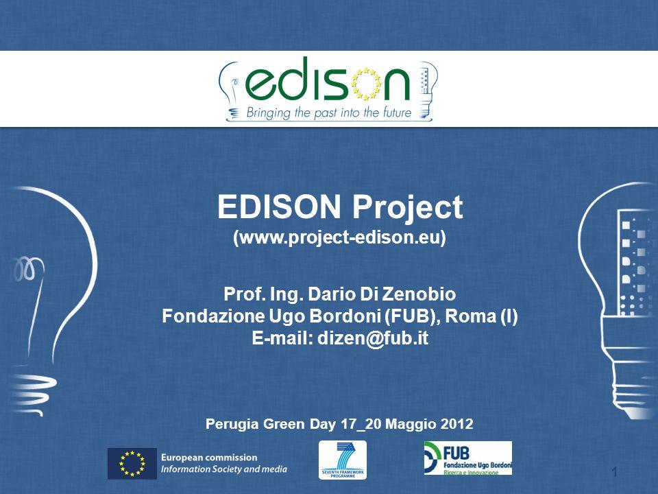 EDISON Project (www.project-edison.eu) Prof. Ing. Dario Di Zenobio