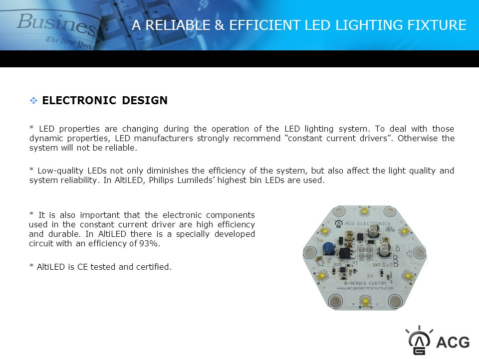 A RELIABLE & EFFICIENT LED LIGHTING FIXTURE