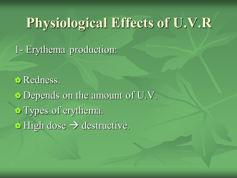 Physiological Effects of U.V.R