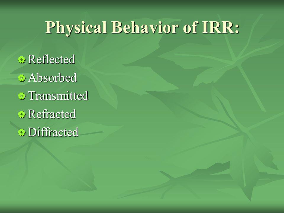 Physical Behavior of IRR: