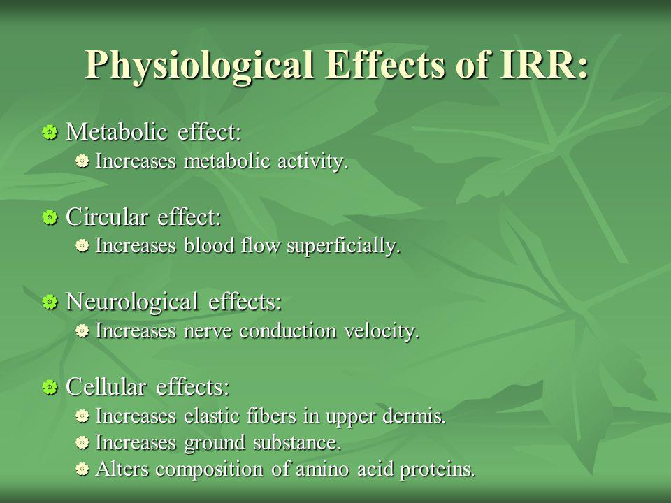 Physiological Effects of IRR: