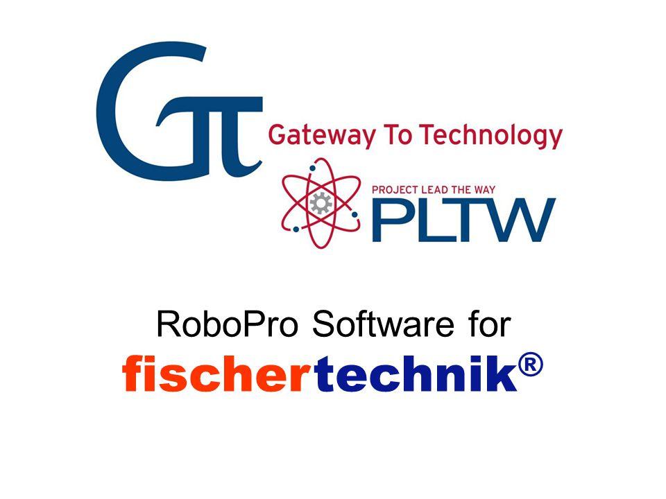fischertechnik® RoboPro Software for Gateway To Technology® RoboPro
