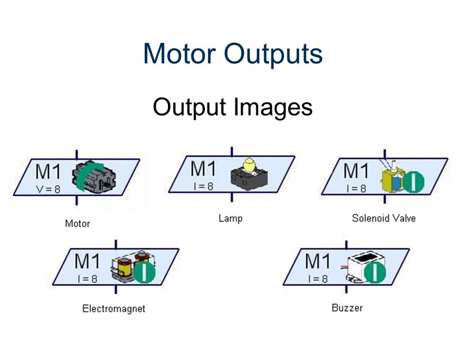 Motor Outputs Output Images Gateway To Technology® RoboPro